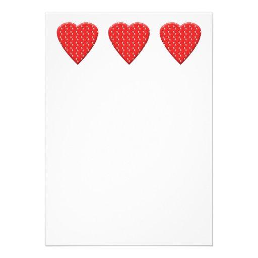 Corazón rojo de la fresa comunicados personales
