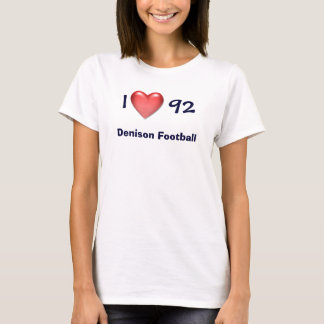 Corazón rojo, I     92, fútbol de Denison Camiseta