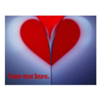 Corazón rojo postal