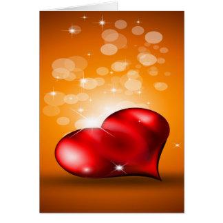 Corazón rojo precioso tarjeta de felicitación