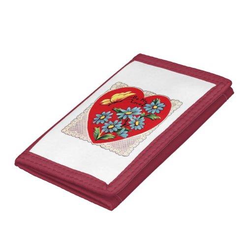 Corazón rojo retro romántico del amor del el día d