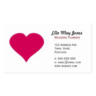 Corazón rojo tarjetas personales