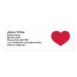Corazón rojo plantilla de tarjeta de visita