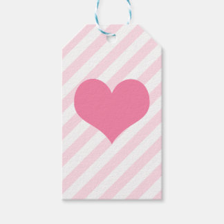 Corazón rosa claro etiquetas para regalos