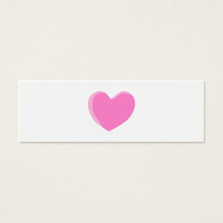 Corazón rosado bonito del amor tarjeta de visita pequeña