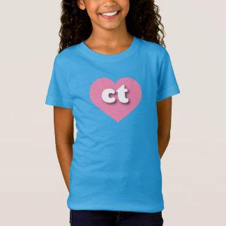 Corazón rosado de Connecticut - mini amor Camiseta