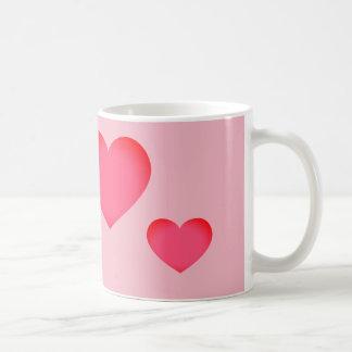 Corazón rosado de Emoji Taza De Café