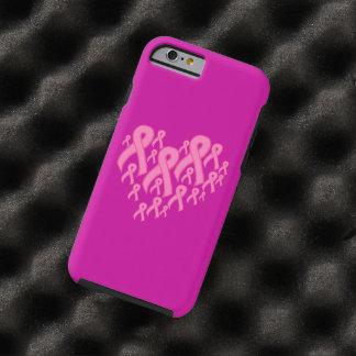 Corazón rosado de la cinta funda para iPhone 6 tough