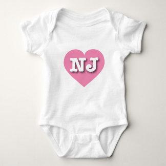 Corazón rosado de New Jersey - amor grande