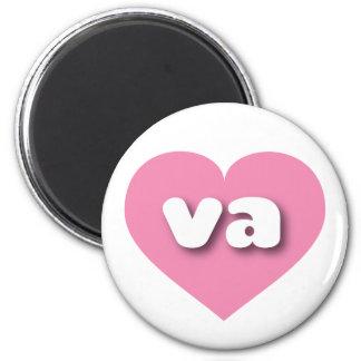 Corazón rosado de Virginia va Imán Redondo 5 Cm