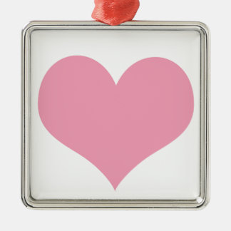 Corazón rosado del amor adorno de cerámica
