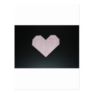 corazón rosado simple del origami postal