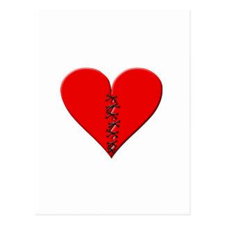 Corazón roto, parchado postal