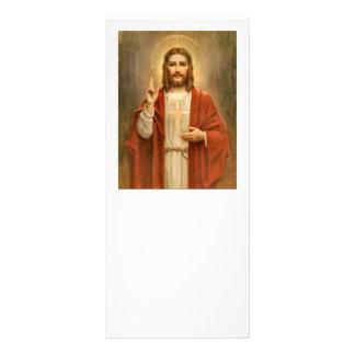 Corazón sagrado con halo tarjeta publicitaria personalizada