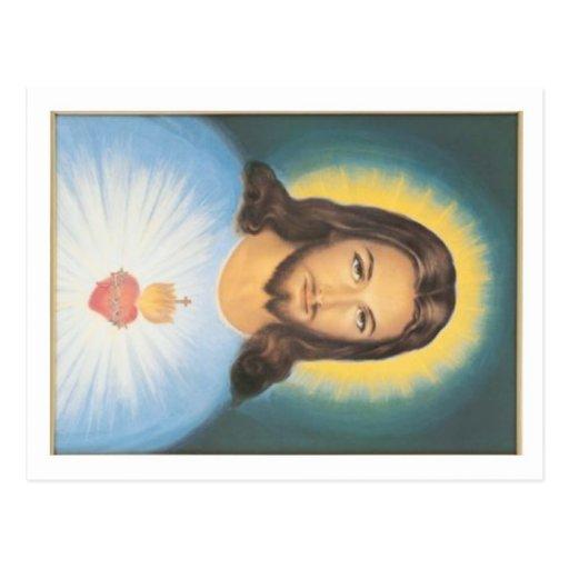 Corazón sagrado de Cristo Tarjeta Postal