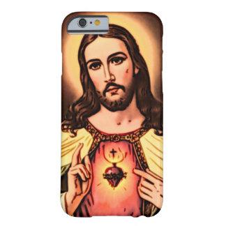 Corazón sagrado del arte del lápiz del color de funda para iPhone 6 barely there
