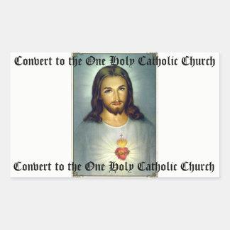 Corazón sagrado del pegatina católico santo de