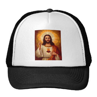Corazón sagrado religioso hermoso de la imagen de  gorro