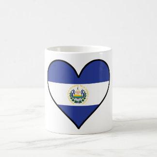 Corazón salvadoreño de la bandera del EL Taza De Café