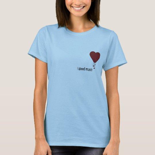 Corazón sangrante, sangro música camiseta