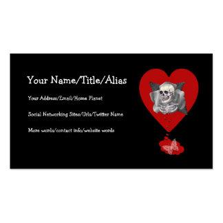 Corazón sangrante tarjeta personal