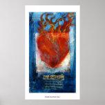 Corazón sánscrito sagrado impresiones