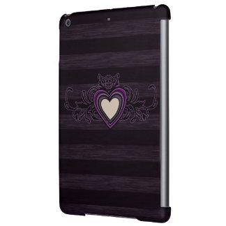 Corazón sucio púrpura de la oscuridad de las rayas