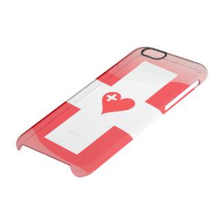 Corazón suizo funda transparente para iPhone 6/6s