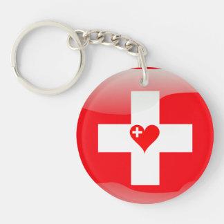 Corazón suizo llavero