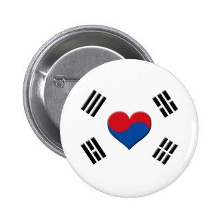 Corazón surcoreano chapa redonda de 5 cm