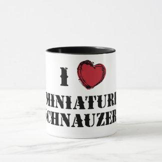 (Corazón) taza del Schnauzer miniatura I