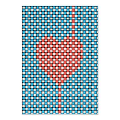 Corazón tejido comunicados personales