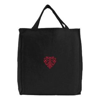 Corazón tribal bordado bolsas bordadas