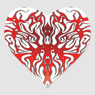 Corazón tribal de la tarjeta del día de San Pegatina En Forma De Corazón
