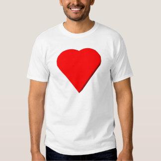 corazón tridimensional #1 camisetas