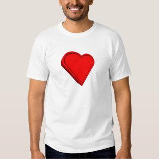 corazón tridimensional camisetas