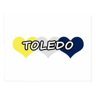 Corazón triple de Toledo Tarjetas Postales