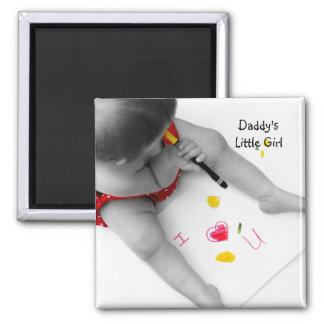 Corazón U del papá I de la niña de Daddys te amo Iman Para Frigorífico