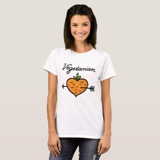 Corazón vegetariano de la zanahoria de los mini camiseta