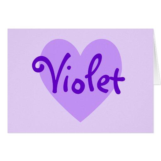 Corazón violeta felicitaciones