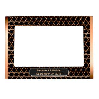 Corazón y alma - cobre (personalizado) marcos magnéticos para fotos