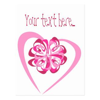Corazón y cinta (editable) postal