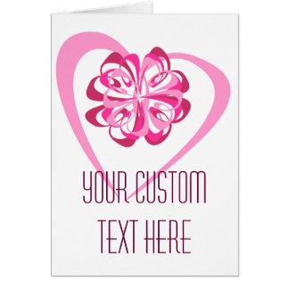 Corazón y cinta (editable) tarjeta de felicitación