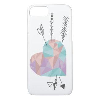 Corazón y flechas cristalinos funda iPhone 7