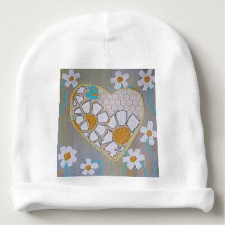 Corazón y margaritas infantiles del gorra gorrito para bebe