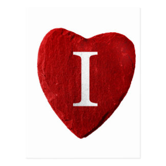 Corazón Yo lo ama Postal