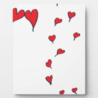 corazones 1 por los fernandes tony placa expositora