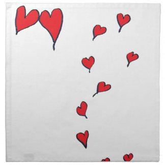 corazones 1 por los fernandes tony servilleta de tela