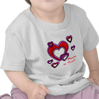 Corazones a usted camisetas