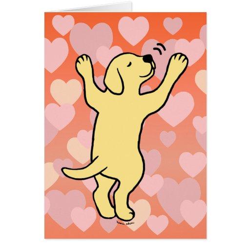 Yellow Lab Puppy Cartoon
